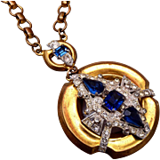 McClelland Barclay Blue Pendant Necklace