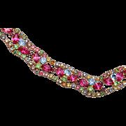 Multiple Color Pastel Rhinestone Necklace