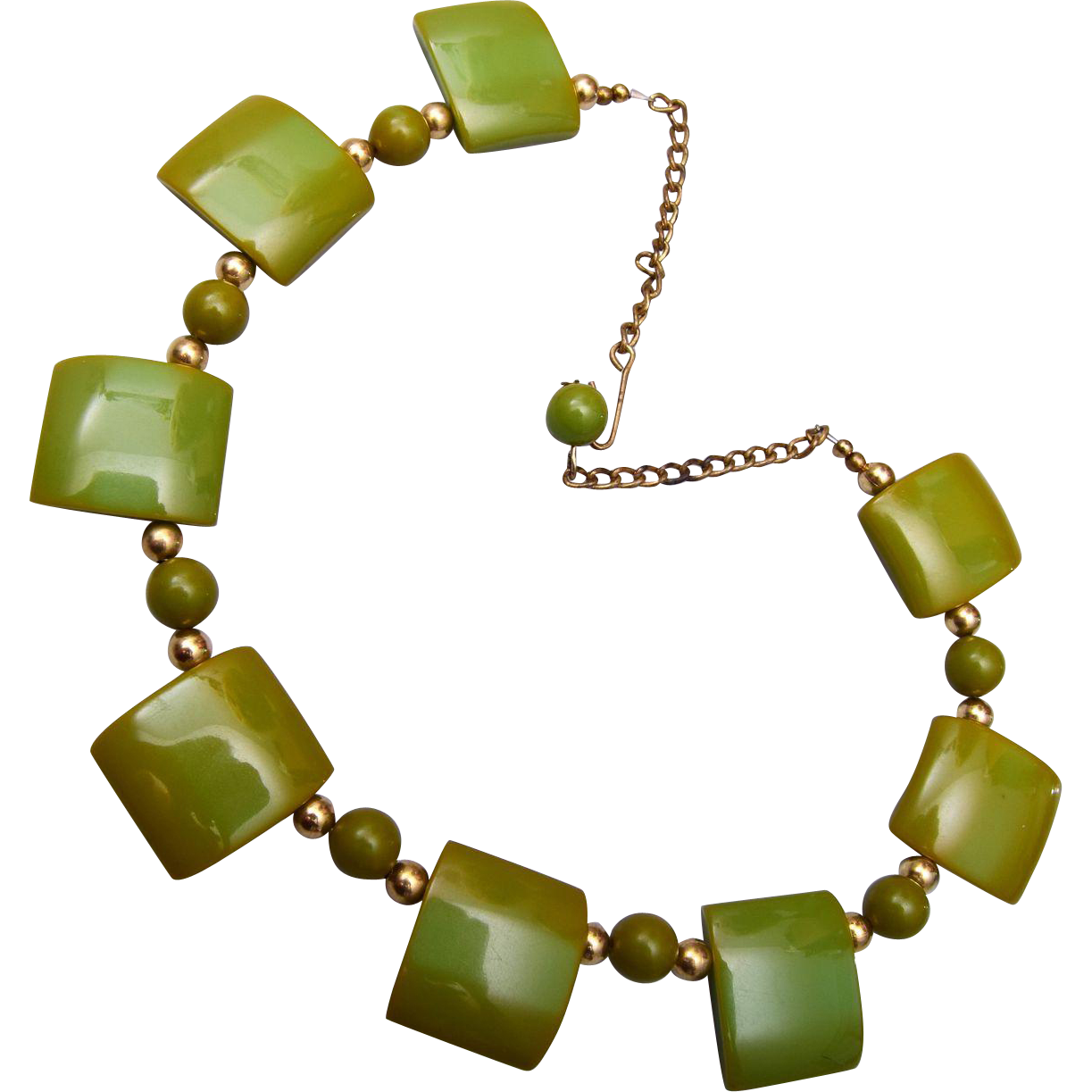 Green Bakelite Necklace