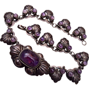 Silver and Amethyst Made in Mexico Necklace