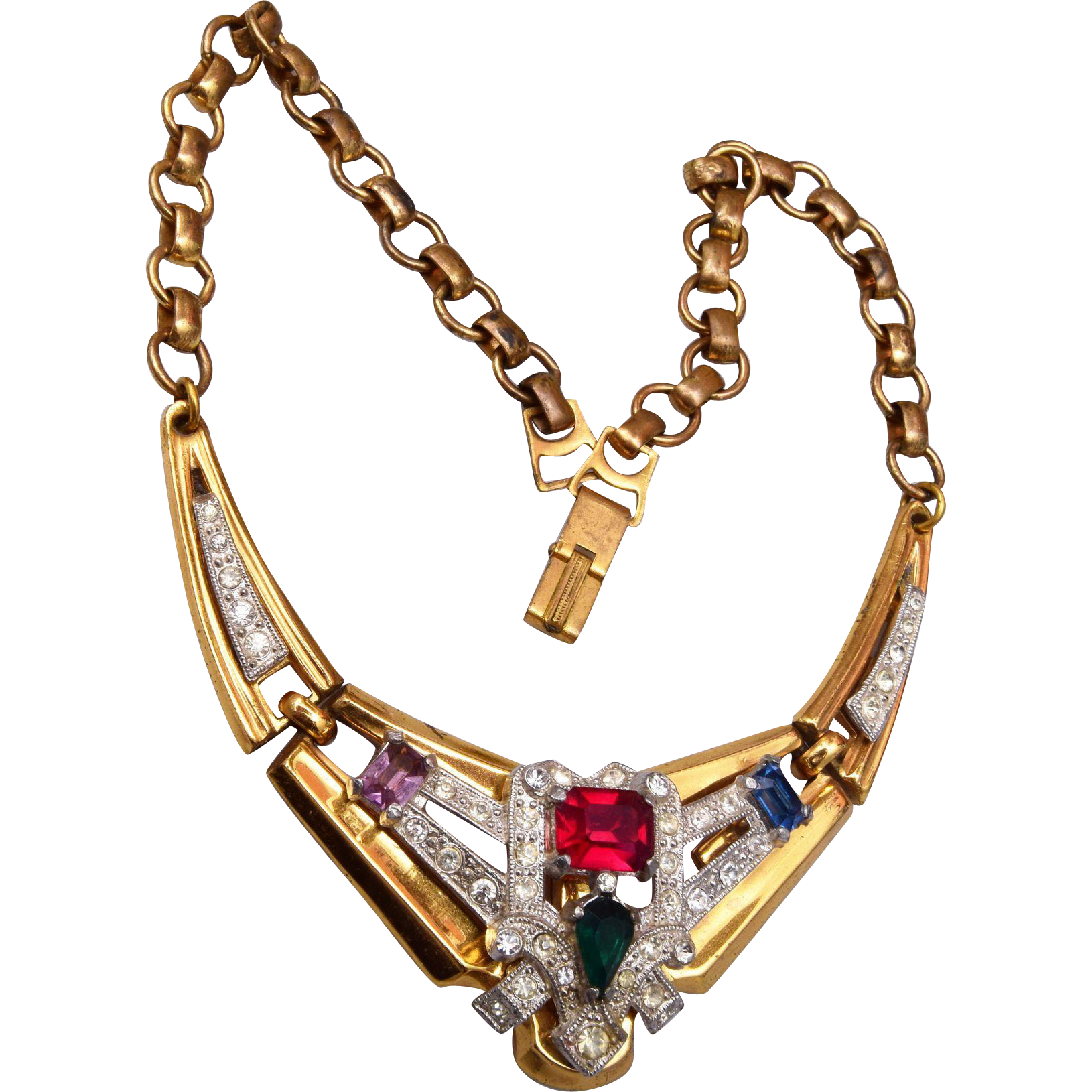 McClelland Barclay Colorful Rhinestone Necklace