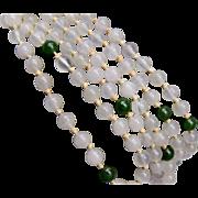 Jade Necklace Tied In between