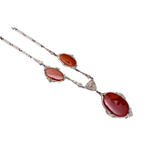 Carnelian Light Weight Art Deco Necklace