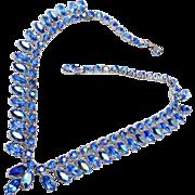 Blue AB Rhinestone Necklace
