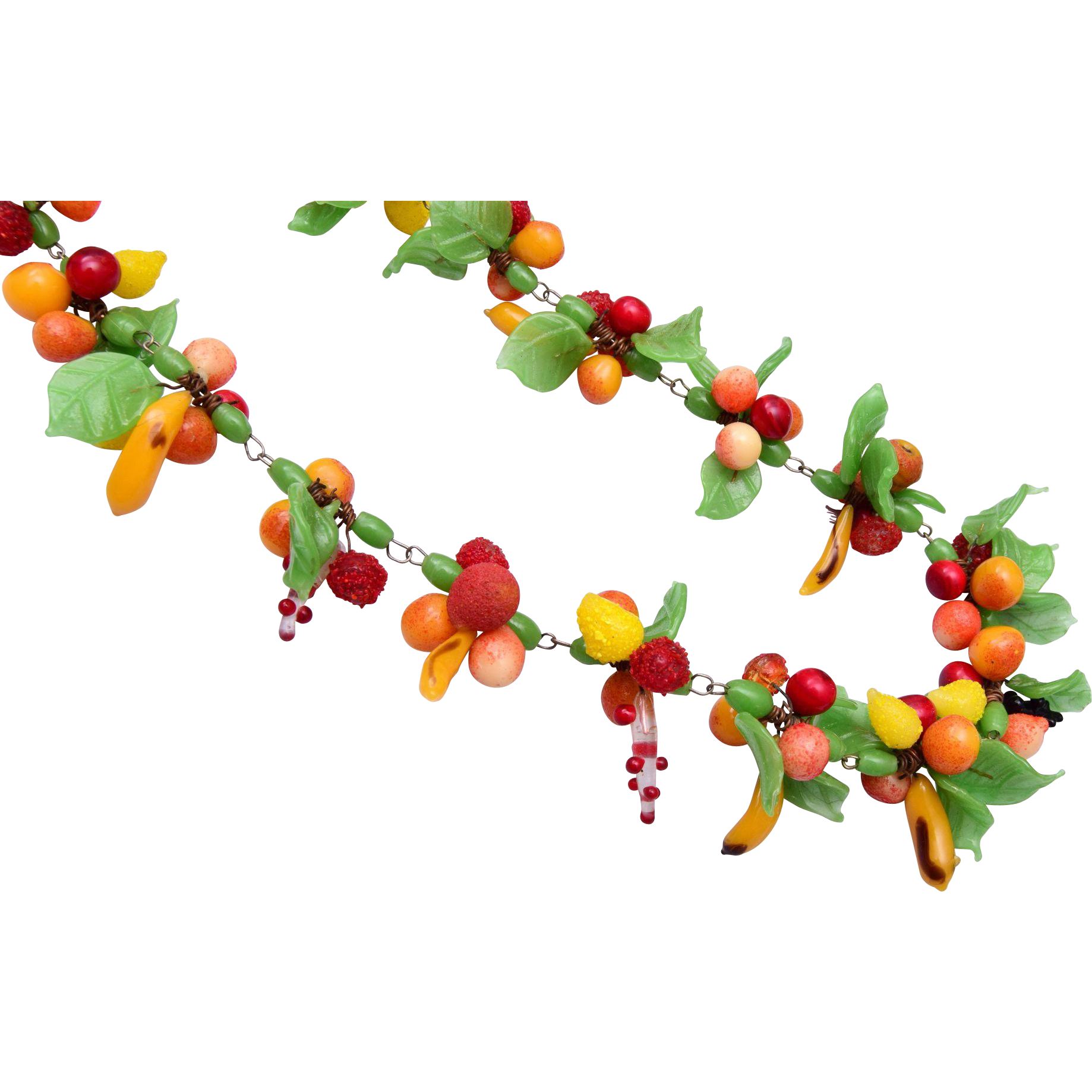 Beautiful and Colorful Made in Italy Glass Fruit Necklace