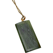 Oriental Jade Pendant Necklace