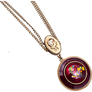 Florenza Enameled Pendant Necklace