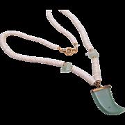 Green Peking Glass Tooth Pendant