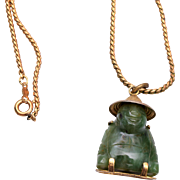 Jade Buddha on Gold Filled Chain