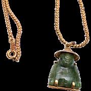 Jade Buddha on Gold Filled Chain