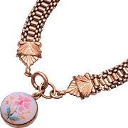 Beautiful Sugared Flower Fob Necklace