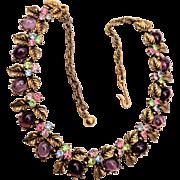 ART Multi Colored Rhinestone Necklace