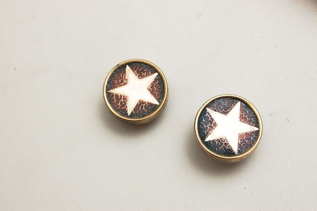Gold Filled Star Cuff Links
