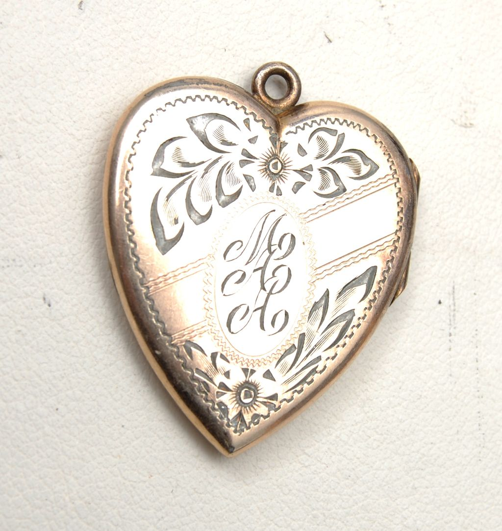"Gold Filled Locket Etched ""MAA"" - Great Condition"