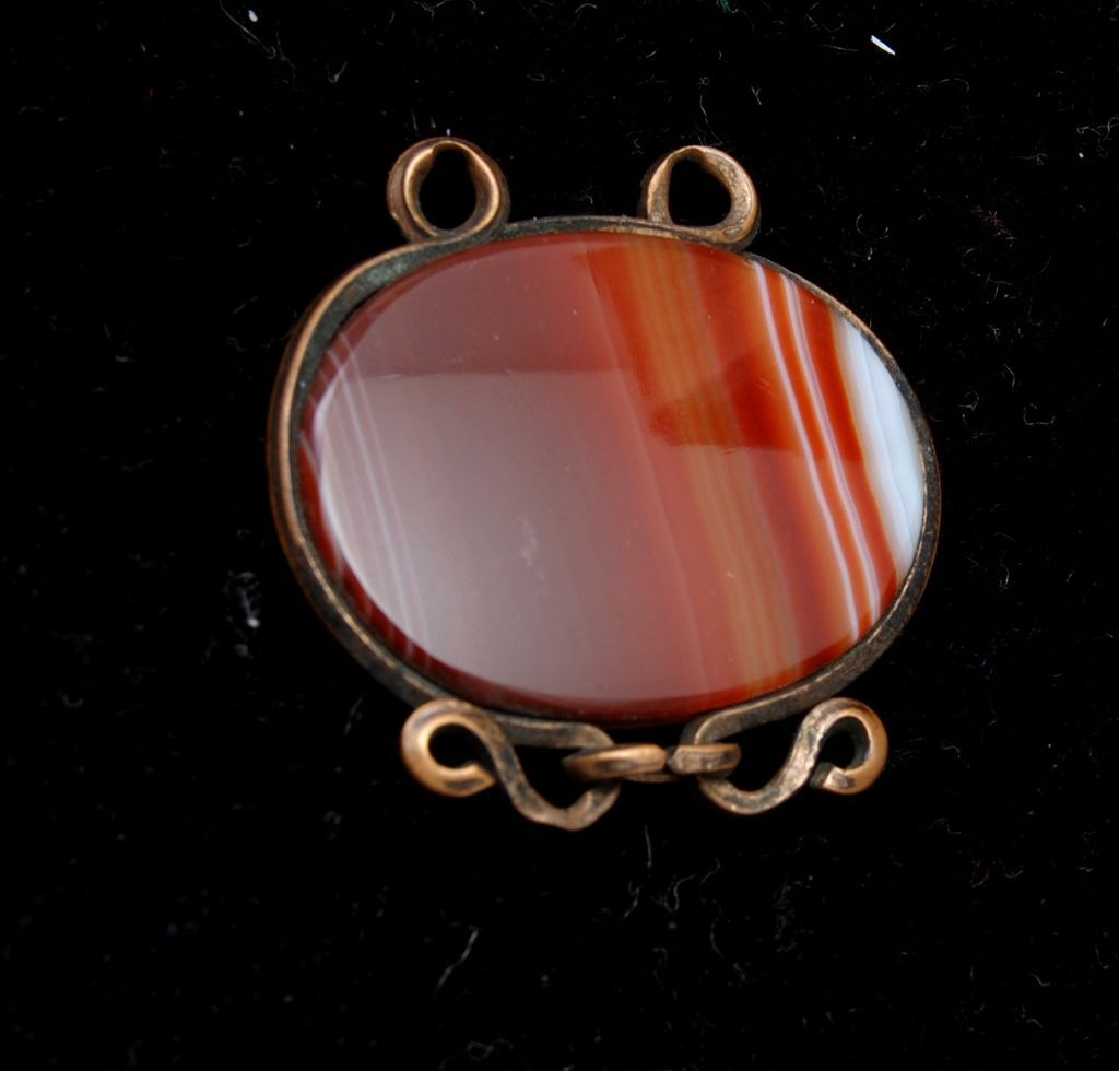 Banded Agate Watch Fob or Charm