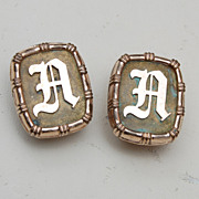 "1881 Gold Filled ""A or D"" Cuff Links"