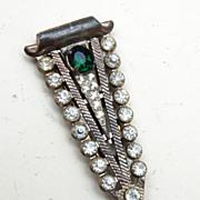 Green Rhinestone Dress Clip