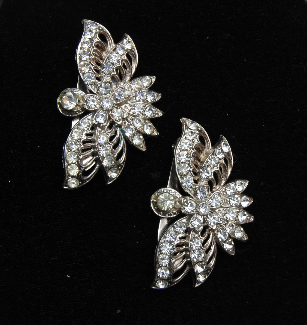 Pair of Rhinestone Dress Clips