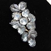 Grape Cluster Clear Rhinestone Dress Clip