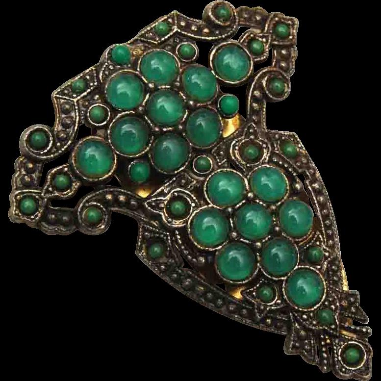 Green Glass Ball Dress Clip