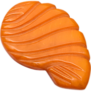 Butterscotch Bakelite Dress Clip