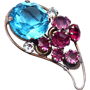 Sterling Vogue Fur Clip – Beautiful Stones!