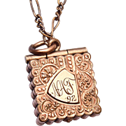Gold Filled 1892 Locket Etched NAF