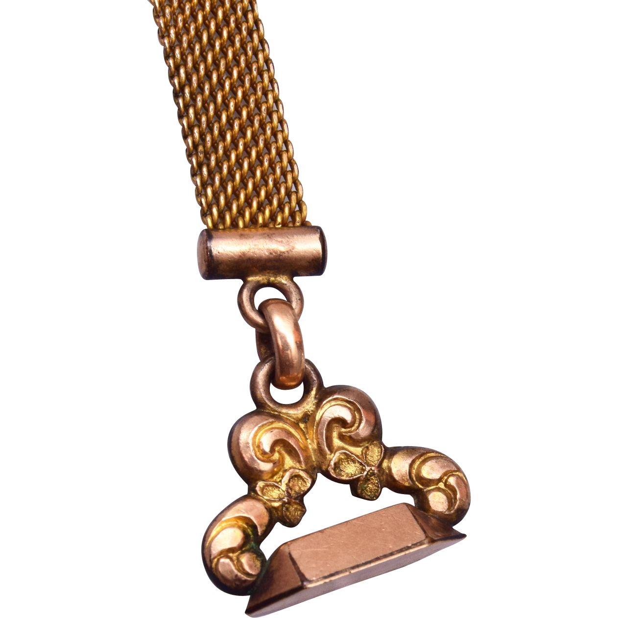 AAG CO Gold Filled Watch Chain and Fob