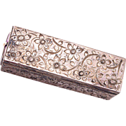 800 Silver Lipstick Holder with Mirror