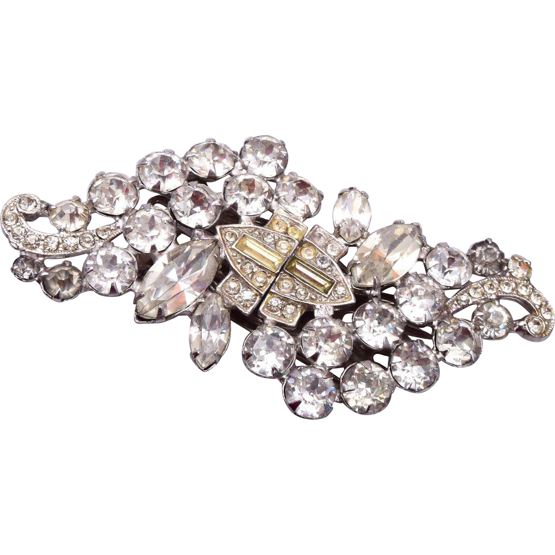 Clear Duette Fur Clips Or Brooch