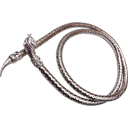 Silver Mesh Snake Belt or Necklace