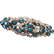 Aqua Rhinestone Duette Dress Clips