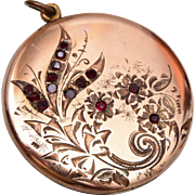 Bee Atrice Gold Filled Locket with Stones