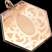 Hexigon Gold Filled Locket