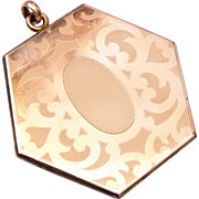 Hexigon Gold Filled Locket