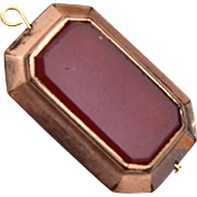 Gold Filled 2-Sided Stone Watch Fob or Charm