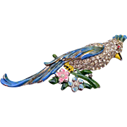 Coro Fur Clip Bird Brooch