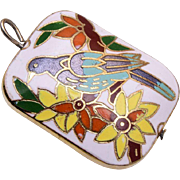 Colorful Cloisonné Bird Charm