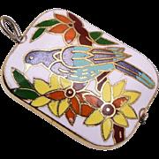 Colorful Cloisonné Bird Charm