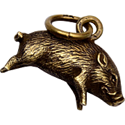 14kt Gold Pig Charm - Good Fortune
