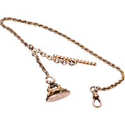 Gold Filled Watch Chain and Fob UTC