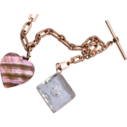 Gold Filled Watch Chain and 2 Fobs