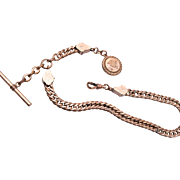 Gold Filled Watch Chain and Fob