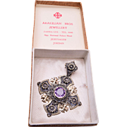 900 Silver Jerusalem Pendant