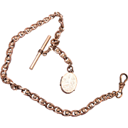 Gold Filled Watch Chain and Locket Fob