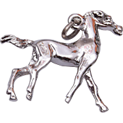 Sterling Horse Charm
