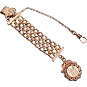 Gold Filled Watch Chain and Fob DFB Co.