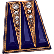 Art Deco Molded Glass Pendant