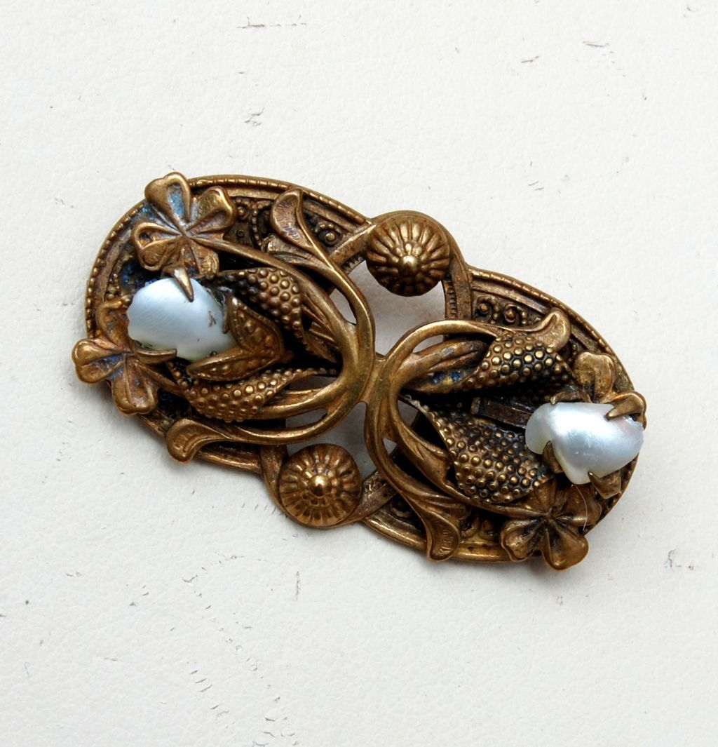 Real Baby Tooth Pearl Brooch