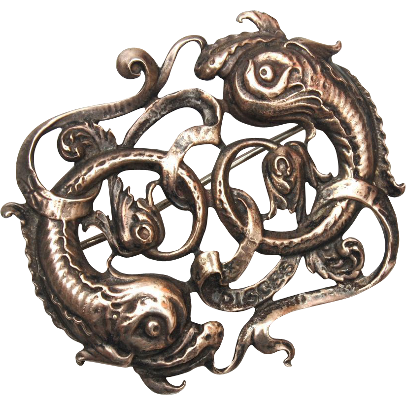 Sterling Cini Pisces Brooch